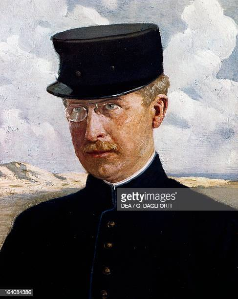 Portrait of Albert I , King of Belgium and the father of the last Queen of Italy Maria Jose of Belgium.