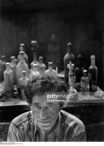 Portrait of Alberto Giacometti Swiss surrealist sculptor May 12 in Paris France
