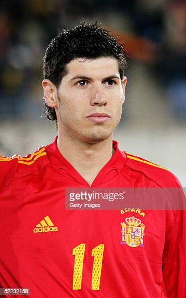 A portrait of Alberto Luque of Spain prior to the World Cup Qualifier between Spain v San Marino held at the Estadio Juan Rojas on February 9 2005 in...