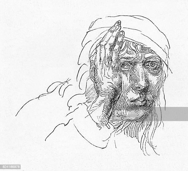 Portrait of Albrecht Durer when a boy' c1491 The drawing is held by the University Library of Erlangen Germany From The Engravings of Albert Durer by...