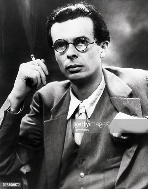 Portrait of Aldous Huxley novelist and essayist smoking a cigarette BPA2