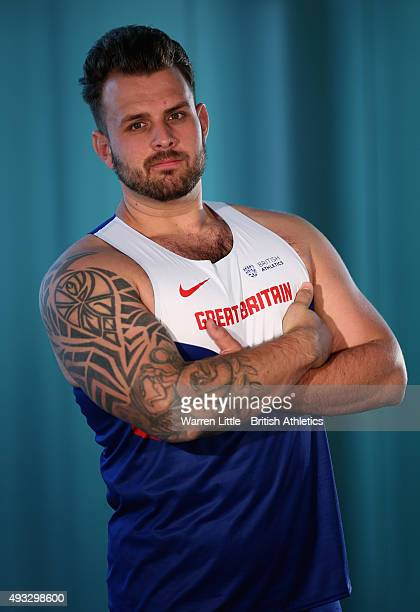 A portrait of Aled Davies of Great Britain Paralympic Team ahead of the IPC Athletics World Championship at The Torch Hotel on October 16 2015 in...