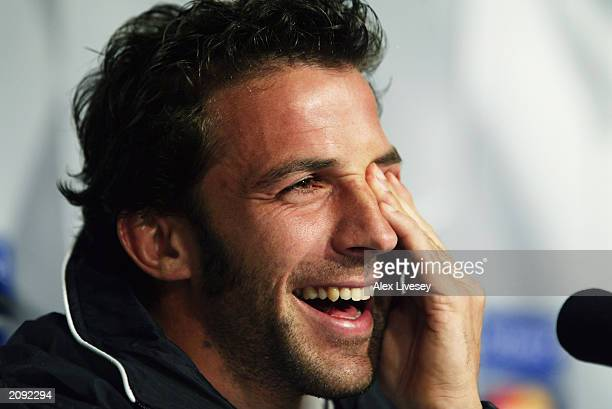 A portrait of Alessandro Del Piero of Juventus during a press conference ahead of the UEFA Champions League Final between Juventus and AC Milan on...