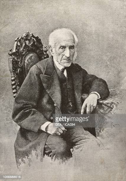 Portrait of Alessandro Manzoni Italian writer and intellectual engraving from a drawing by Adolfo Riera and a photograph by Giulio Rossi from...