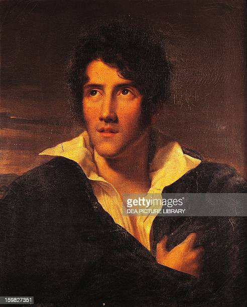 Portrait of Alessandro Manzoni Italian writer poet and playwright Painting attributed to Maria Louisa Catherine Cecilia Cosway 1805 Milan Museo...