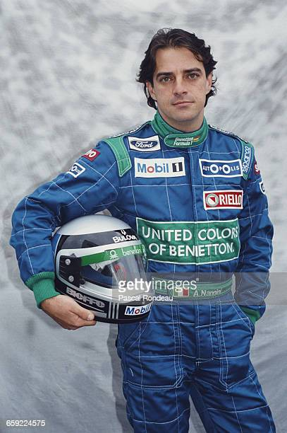 Portrait of Alessandro Nannini of Italy driver of the Benetton Formula Ltd Benetton B189B Ford V8 during pre season testing on 10 February 1990 at...