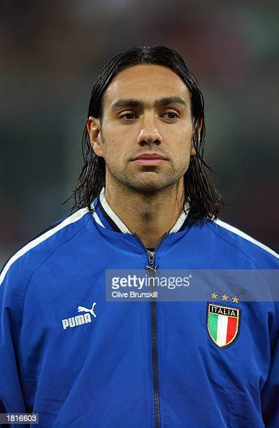 Portrait of Alessandro Nesta of Italy taken before the International Friendly match between Italy and Portugal held on February 12 2003 at the Stadio...