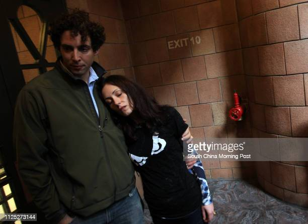 Portrait of Alex Berenson and Jacqueline Berenson who have come to Hong Kong after the body of Jacqueline's brother Joseph Basha was found at a...