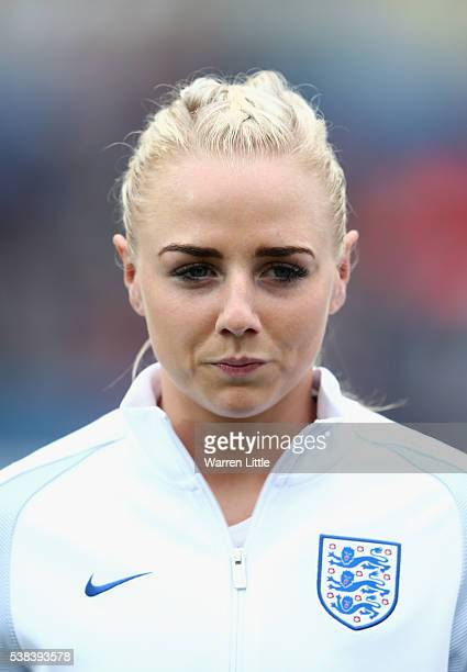 A portrait of Alex Greenwood of England ahead of the UEFA Women's European Championship Qualifying match between England and Serbia at Adams Park on...