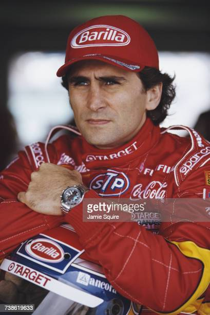 Portrait of Alex Zanardi of Italy driver of the Target Ganassi Racing Reynard 98i Honda during testing for the Championship Auto Racing Teams 1998...