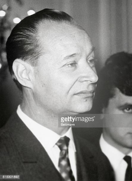 Portrait of Alexander Dubcek First Secretary of the Czechoslovakian Communist Party Photo filed in 1968