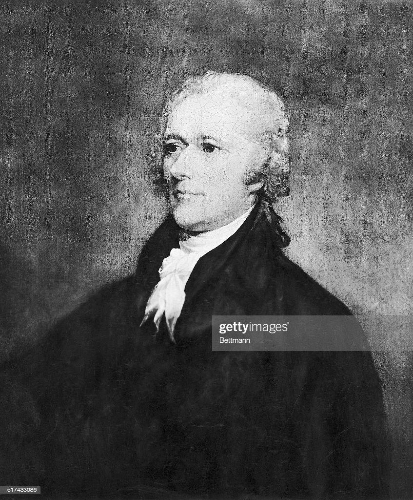 Engraving after Alexander Hamilton by John Trumbull : News Photo