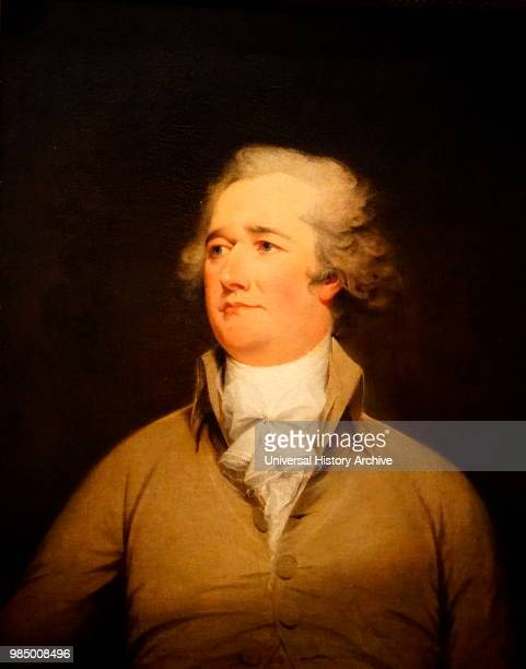 Portrait of Alexander Hamilton an American statesman and one of the founding fathers Painted by John Trumbull an American artist Dated 18th Century