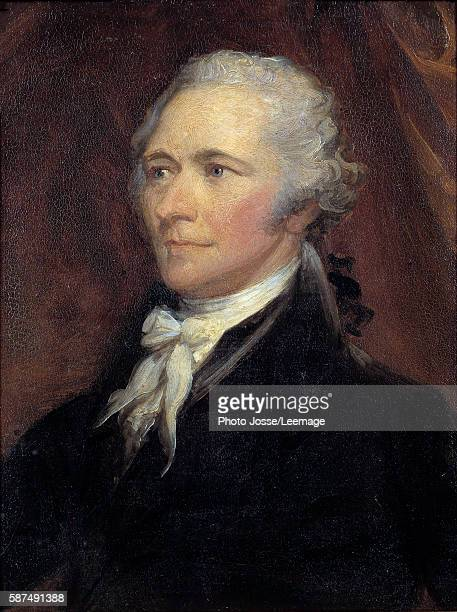 Portrait of Alexander Hamilton Secretary of the Treasury of the United States Painting by George Healy 19th century 025 x 02 m Castle Museum...