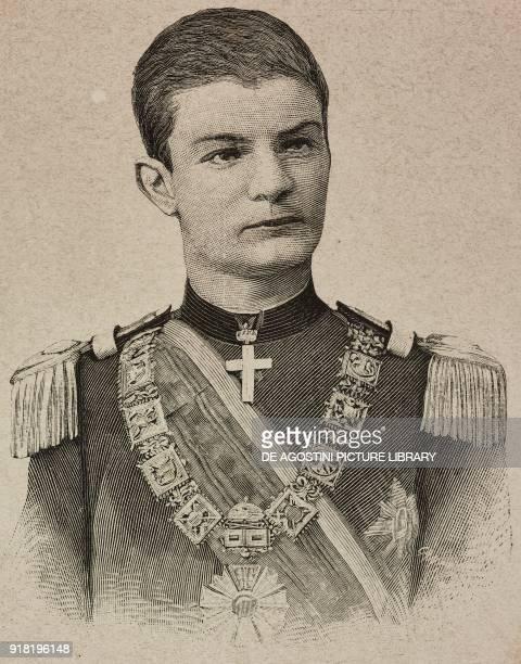 Portrait of Alexander I Obrenovic king of Serbia engraving from L'Illustrazione Italiana Year XX No 19 May 7 1893