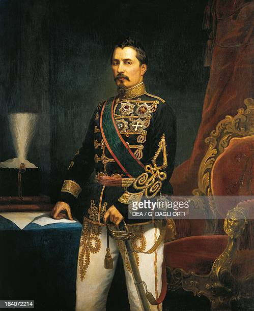 Portrait of Alexander John Cuza , Prince of Moldavia and Wallachia. Painting by Carol Pop de Szathmary . Bucharest, Muzeul National De Istorie Al...