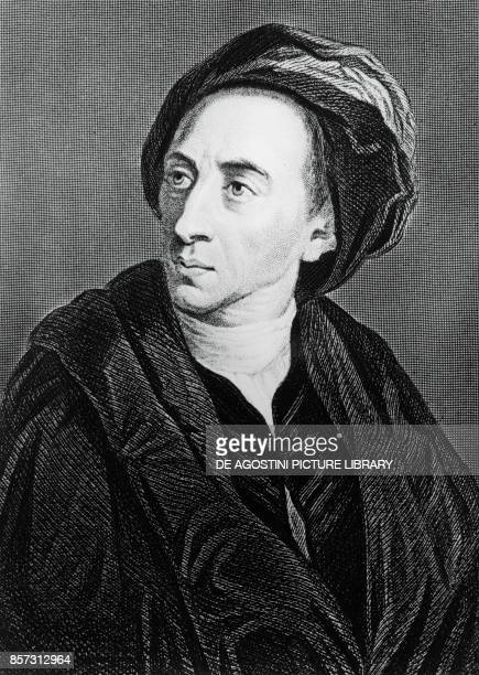 Portrait of Alexander Pope English poet engraving