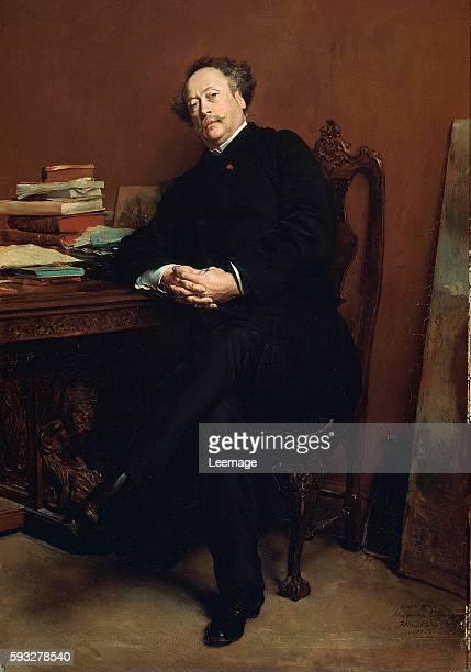 Portrait of Alexandre Dumas Fils 1877 by Jean Louis Ernest Meissonier Musee des Chateaux de Versailles