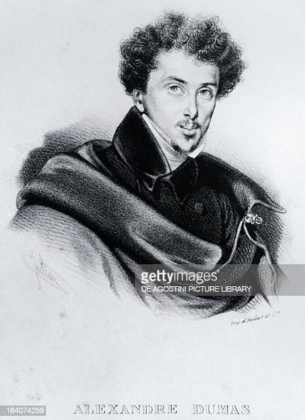 Portrait of Alexandre Dumas fils French novelist and playwright