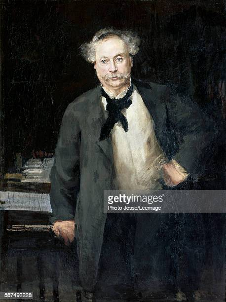 Portrait of Alexandre Dumas fils French writer Painting by Alfred Philippe Roll 1881 Oil on canvas BeauxArts Museum Reims France