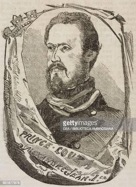 Portrait of Alexandru Ioan Cuza , Prince of Moldavia and Wallachia, then Prince of Romania, illustration from Il Giornale Illustrato, Year 3, No 16,...