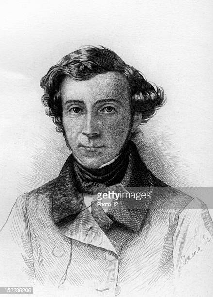 Portrait of Alexis de Tocqueville French writer and politician