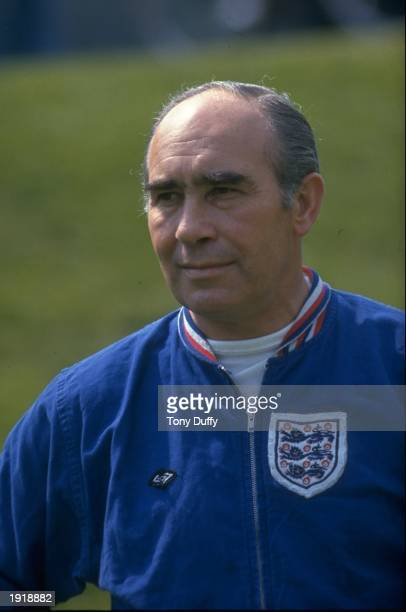 Portrait of Alf Ramsey the England Manager Mandatory Credit Tony Duffy/Allsport