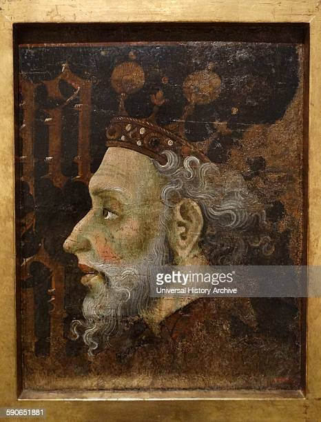 Portrait of Alfonso II Liberal King of Aragon By Gonzalo Pérez and Jaume Mateu Catalonian artists of the 15th Century