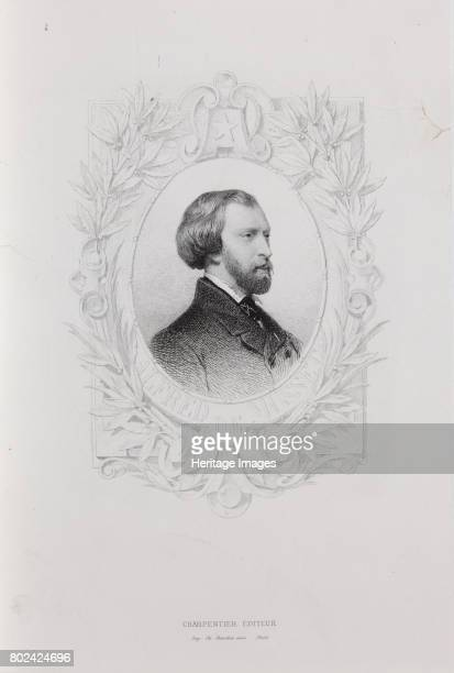 Portrait of Alfred de Musset 1840s Found in the collection of I Turgenev Memorial Museum Moscow