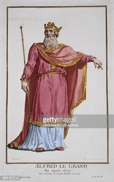 'Portrait of Alfred King of Wessex by Pierre Duflos '