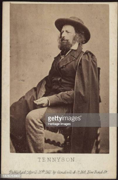 Portrait of Alfred, Lord Tennyson , 1861. Private Collection. Artist Anonymous.