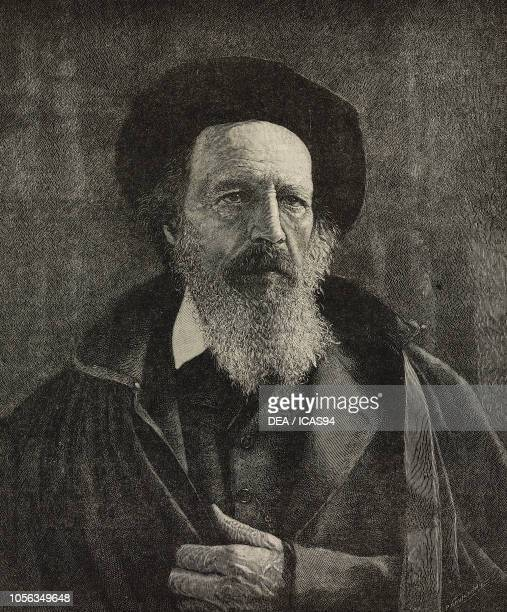 Portrait of Alfred Tennyson , English poet, engraving from The Illustrated London News, No 2791, October 15, 1892.