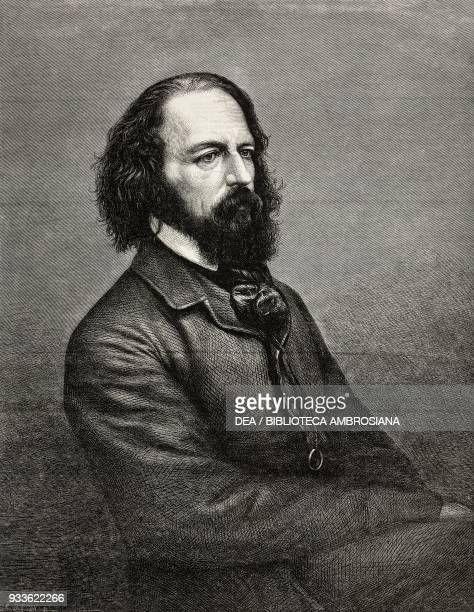Portrait of Alfred Tennyson the Poet Laureate illustration from the magazine The Illustrated London News volume XLIV February 13 1864