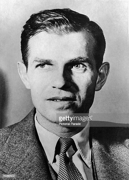 Portrait of Alger Hiss former official of the US State Department who was accused of Communist activity by the House UnAmerican Activities Committee...