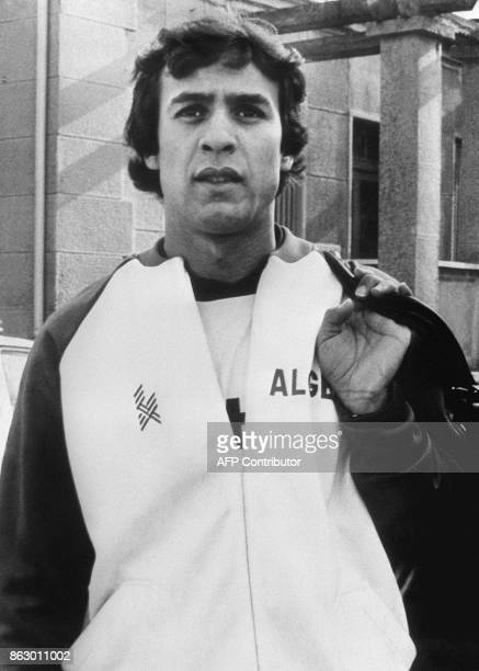 Portrait of Algerian forward Rabah Madjer taken in February 1982 in Algiers Algeria is one of the 24 teams that will participate in the World Cup...