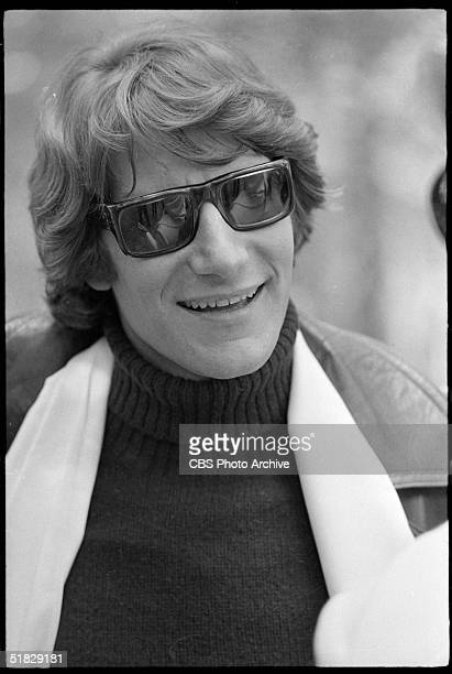 Portrait of Algerianborn fashion designer Yves Saint Laurent in sunglasses during the CBS special 'The Paris Collections Fall Fashion Preview' June...