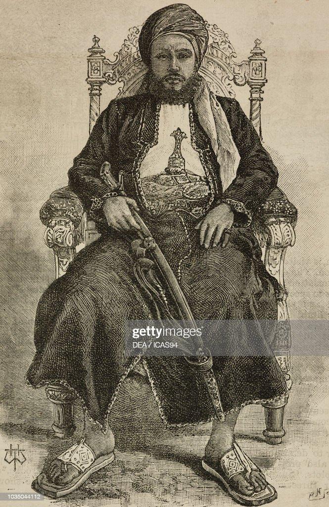 Portrait of Ali bin Sa'id, sultan of Zanzibar : Photo d'actualité