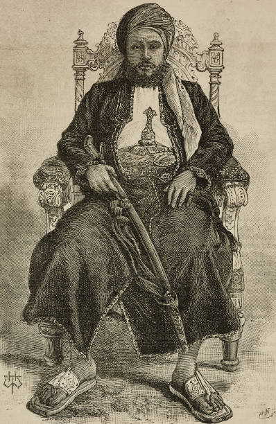 Portrait of Ali bin Sa'id sultan of Zanzibar under British protection engraving from The Illustrated London News volume 97 No 2691 November 15 1890