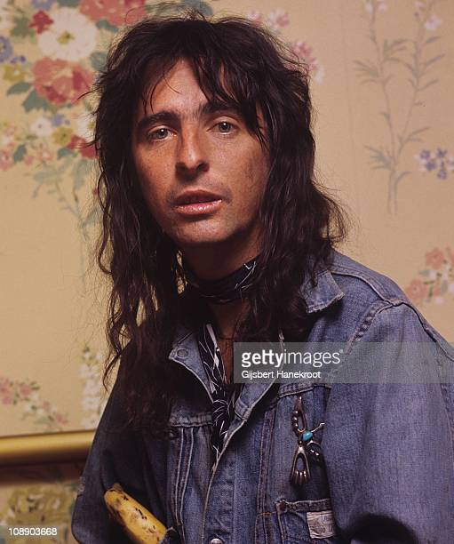 A portrait of Alice Cooper in Amsterdam Netherlands 1972