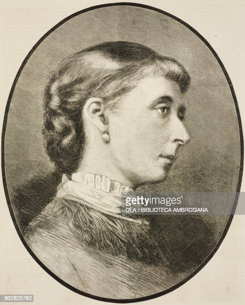 Portrait of Alice Maud Mary Princess Alice of the United Kingdom third child and second daughter of Queen Victoria illustration from the magazine The...