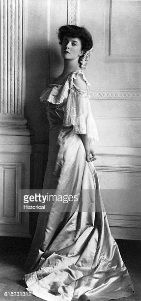 Portrait of Alice Roosevelt Longworth in a long gown She was the daughter of President Theodore Roosevelt and the wife of Nicholas Longworth Speaker...