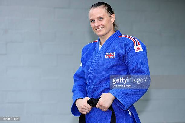 Portrait of Alice Schlesinger of Great Britain during an announcement of judo athletes named in Team GB for the Rio 2016 Olympic Games at British...