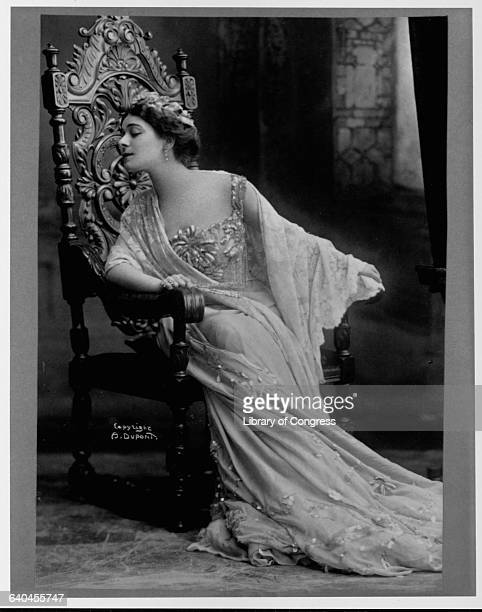 Portrait of Alla Nazimova a noted Russianborn American actress