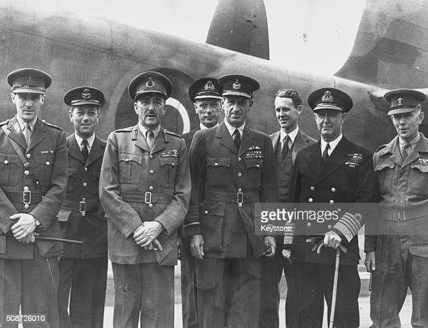 Portrait of allied Chiefs of Staff following the end of World War Two Lt Colonel Charrington Squadron Leader Eeley Field Marshal Sir Alan Brooke...