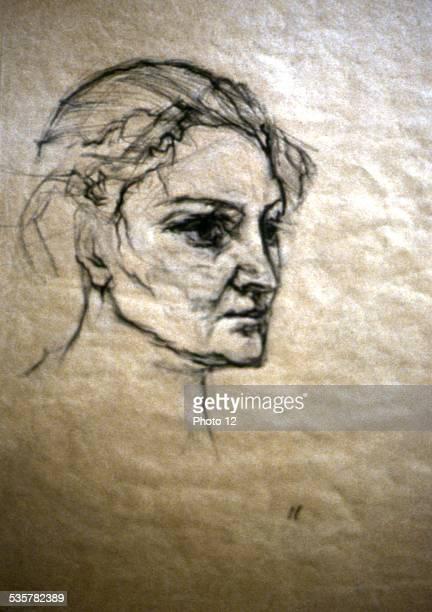 Portrait of Alma Mahler Oskar Kokoschka Paris Exhibition Mahler Musee de la ville