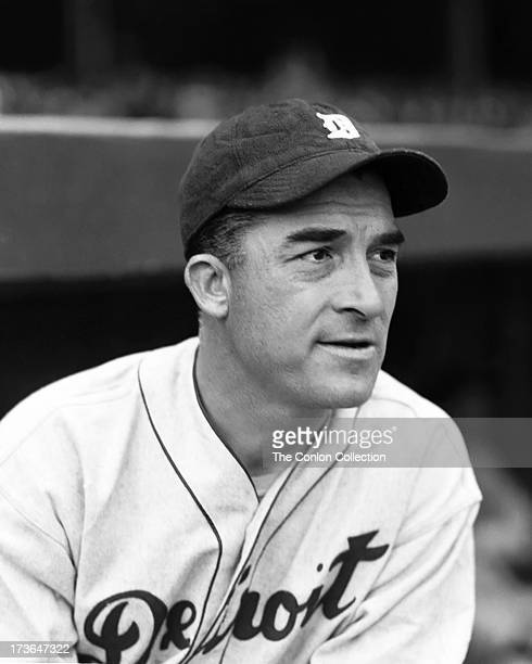 A portrait of Aloysius H Simmons of the Detroit Tigers in 1936