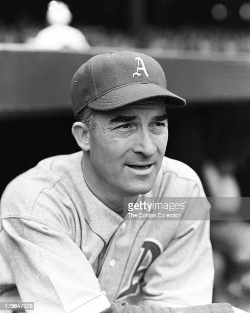 A portrait of Aloysius H Simmons of the Philadelphia Athletics in 1940