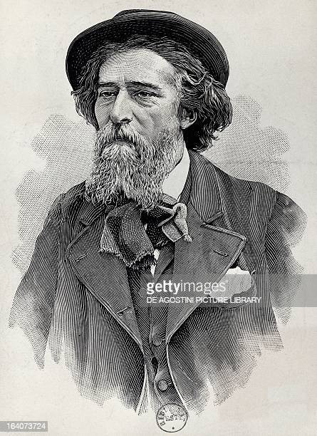 Portrait of Alphonse Daudet French novelist and playwright Engraving