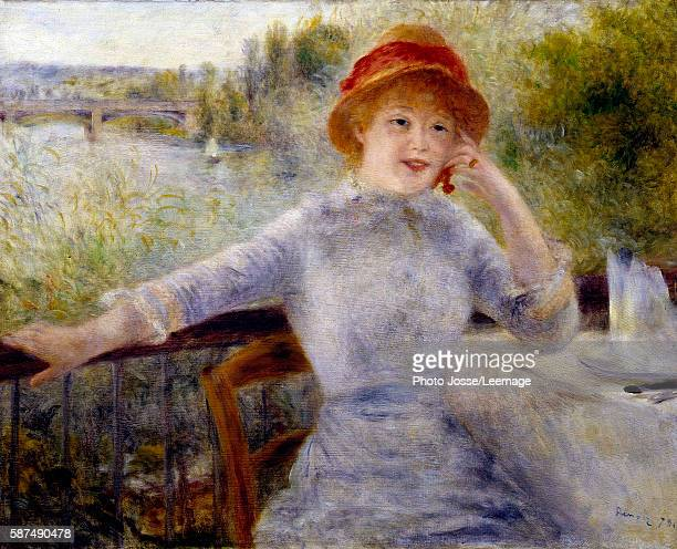 Portrait of Alphonsine Fournaise Painting by Pierre Auguste Renoir 073 x 093 m Orsay Museum Paris