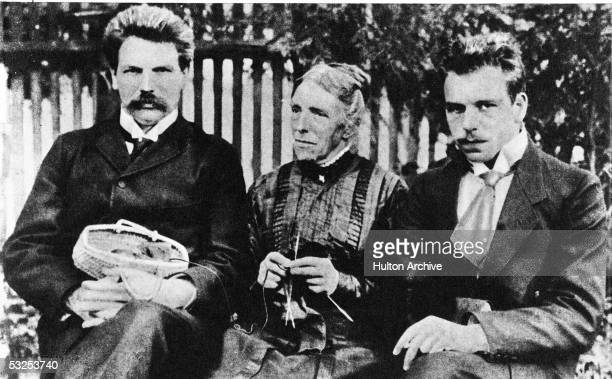 Portrait of Alsatianborn German theologian musician and future medical missionary Albert Schweitzer the year he began his medical studies with his...